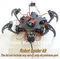 1 conjunto Arduino liga de alumínio Hexapod aranha seis 3DOF Kit quadro pernas robô Dropshipping