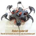 1set Arduino Aluminium Alloy Hexapod Spider Six 3DOF Legs Robot Frame Kit Retail Dropshipping + Free Shipping