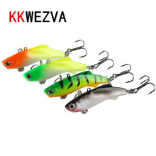 KKWEZVA Winter Fishing Lure 4pcs VIB Ice Fishing Lure Soft Bait 5cm 8.5g Isca Artificial Bait Wobber Sinking Fishing Lure ice lure fishing spoon bait for winter fishing 8g 50mm isca artificial metal jig winter fishing tackles leurre peche 509