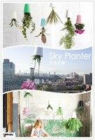 Wholesale 3pcs Lot Sky Planter Upside Down Plant Pot Or Home Office Decoration Plastic Pots Vase