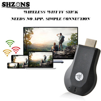 AnyCast Sem Fio DLNA Airplay Dongle TV Vara Push Cromo elenco Wifi Exibição Receiver PC Android Media Player para Android Ipad