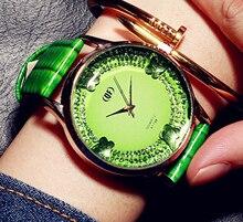 Mariposa Grande de línea de Moda las mujeres relojes de marca de lujo del diamante vestido de las señoras de cuero femenino de la correa de reloj de mujer reloj de pulsera de cuarzo