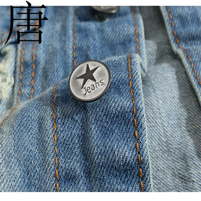 Tang cool 2019 Men Fashion Patch Designs Cowboy Frayed Jeans Sleeveless Jackets Punk Rock Motorcycle Waistcoat