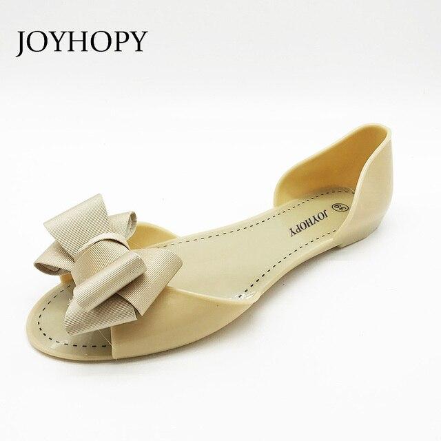 78bb726ea JOYHOPY Women Jelly Sandals Beach Jelly Shoes Woman Summer Flip Flops  Bowtie Slippers Slip On Flats Casual Women Shoes