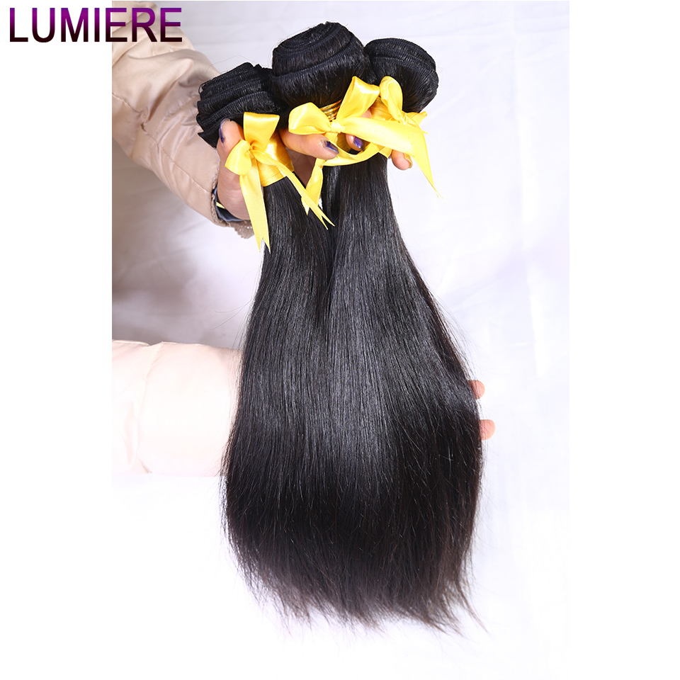 Lumiere Hair Indian Straight Hair Bundles Natural Color 100% Human Hair Bundles Non-Remy Hair Extension 3 Pieces Free Shipping