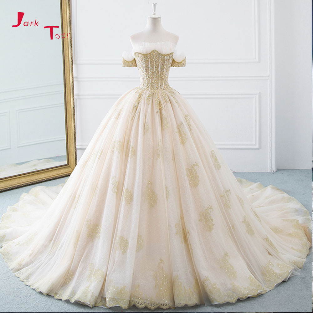 Disney Wedding Dresses 2019: Jark Tozr Vestido De Noiva Princesa 2019 Shiny Beaded