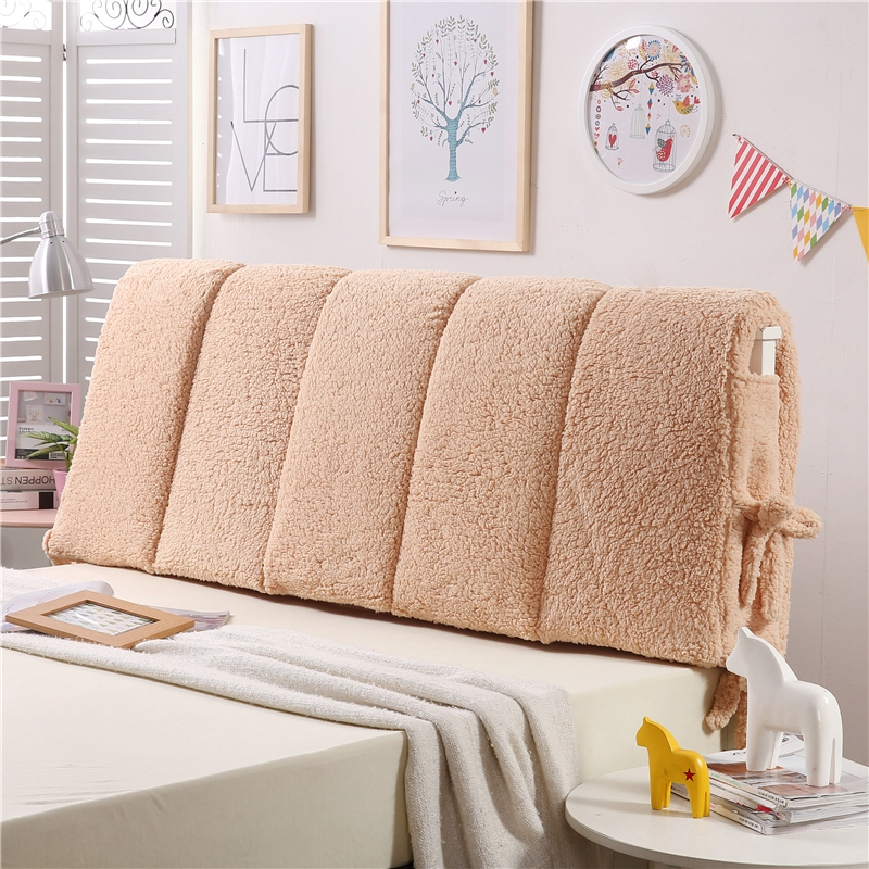 thick lamb fleece big back rest flannel for winter warm soft bed headboard cushion twin queen full king super size big cushion