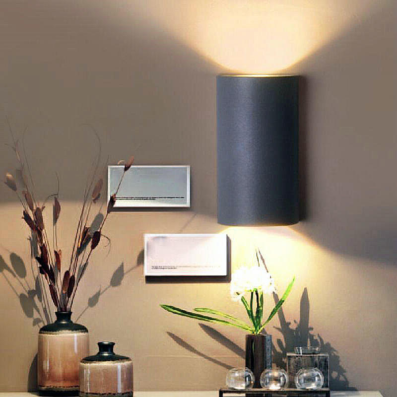 ФОТО Double COB 2*7W LED wall lights fashion lamp modern brief bedroom lamp energy saving lamp AC85V-265V 14W Free Shipping