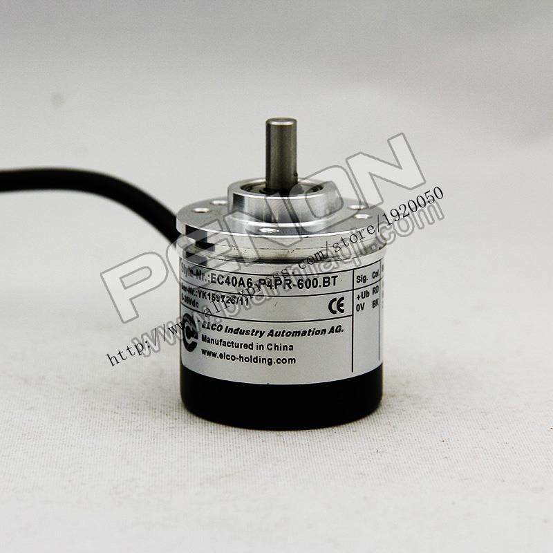 EC40A6-P4PR-600.BT Elco ELCO Rotary Optical Encoder 600 Line Solid Shaft 6mm