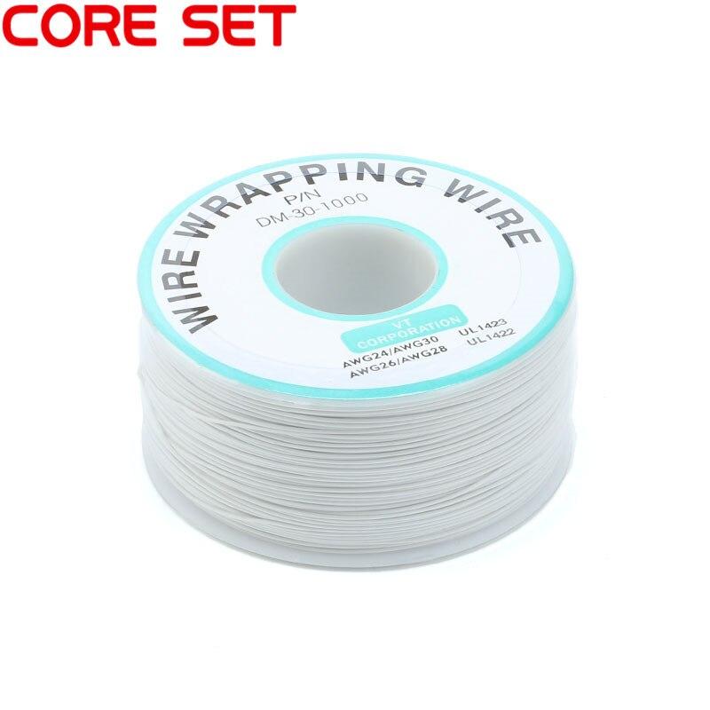 250 м/лот 30 AWG оберточный провод 10 цветов одножильный медный кабель Ok провод электрический провод для ноутбука Материнская плата PCB припой - Цвет: White