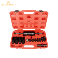 Automotive Diesel Engine Injector Common Rail Adaptor Slide Hammer Extractor Removal Puller Tool Set 14pcs