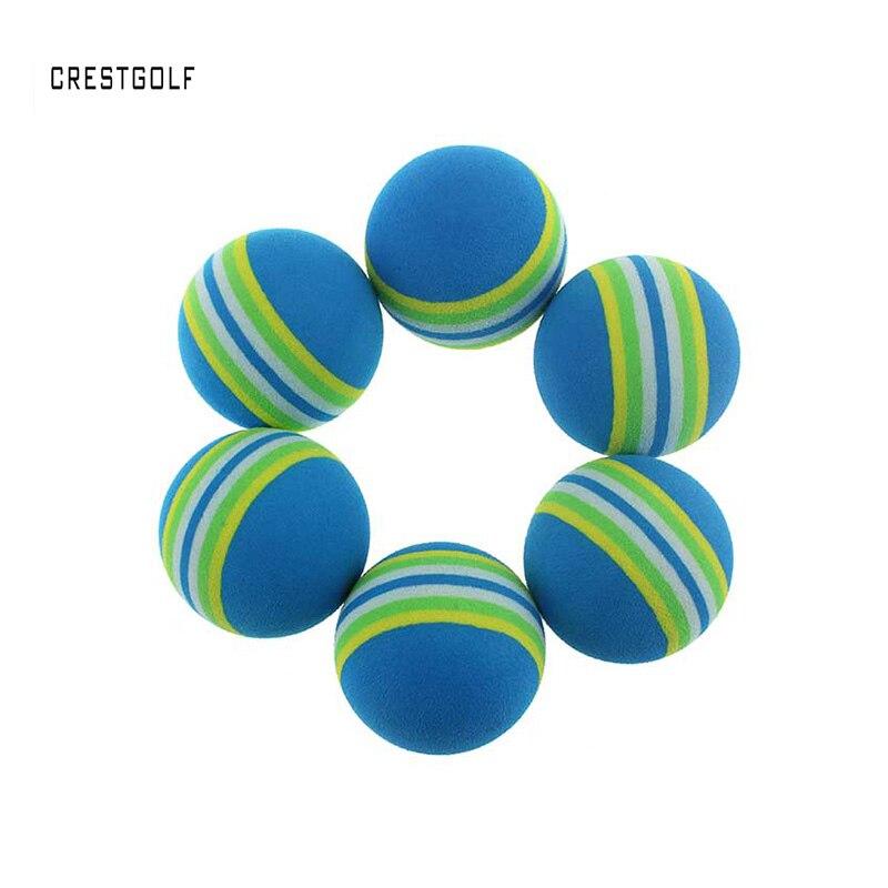 CRESTGOLF 50/100/200pcs Rainbow PU Foam Golf Practice Balls Sponge Indoor Outdoor Training Aid Swing Backyard Golf Balls
