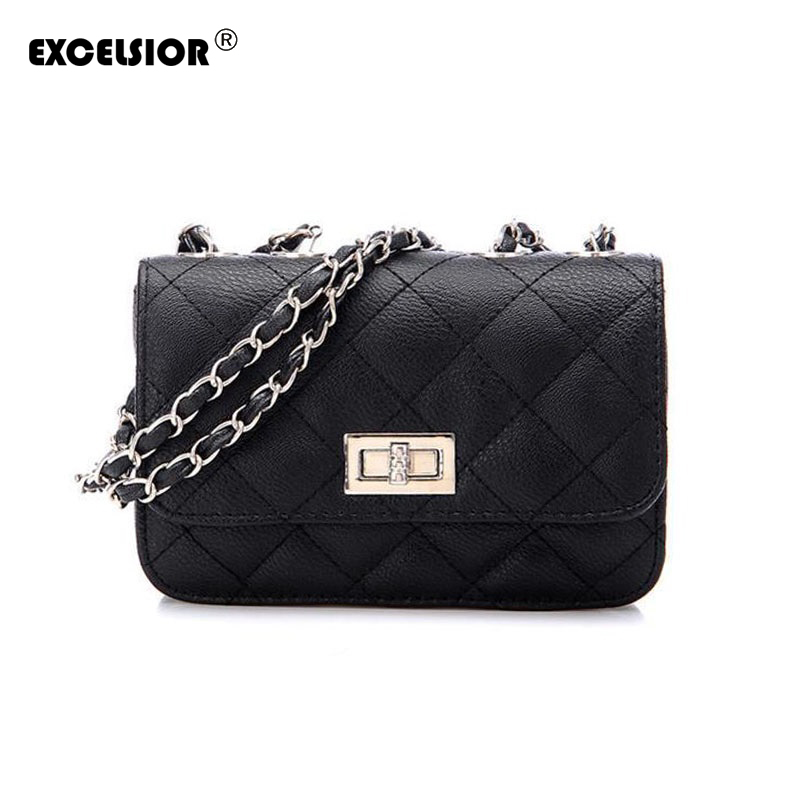 EXCELSIOR Women Messenger Bag Crossbody Chain Shoulder Bags Women Designers Brand Handbags High Quality Leather Bags Tote giaevvi luxury handbags split leather tote women messenger bags 2017 brand design chain women shoulder bag crossbody for girls