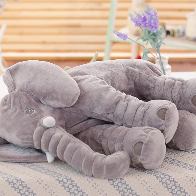 40/60CM  Elephant Plush Pillow Infant Soft For Sleeping Stuffed Animals  Toys Baby 's Playmate gifts for Children WJ346 3