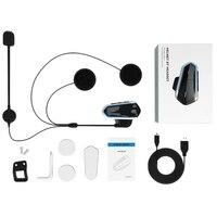 New Motorcycle Helmet Wireless Bluetooth Headset Walkie Talkie Bt Mp3 Speaker Communicator Headset With Fm