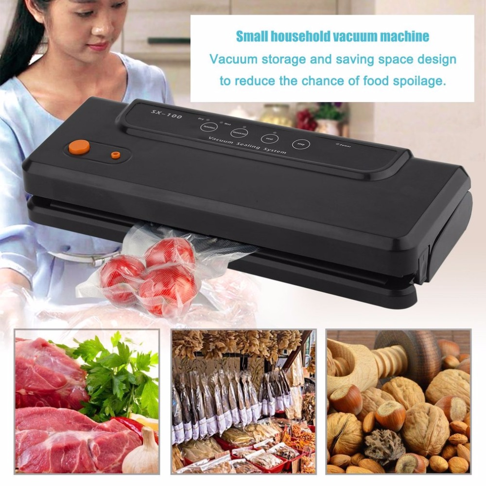Multi-Function Vacuum Sealer Vacuum Sealing Machine SX-100 Automatic Food Sealer Portable Packaging Machine