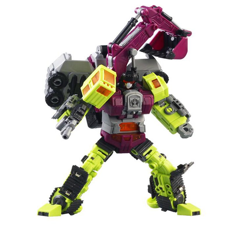 цена на New Transformation Robot Toys Ko Version Gt Scraper Forklift excavator Action Figures Robot Toys For Children Gift