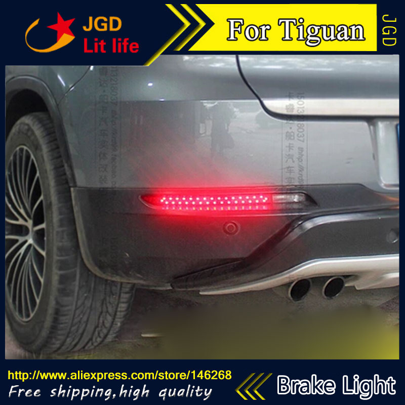 Free shipping Tail light parking warning rear bumper reflector for VW Volkswagen Tiguan 2010 2011 2012 Car styling car rear trunk security shield cargo cover for volkswagen vw tiguan 2016 2017 2018 high qualit black beige auto accessories