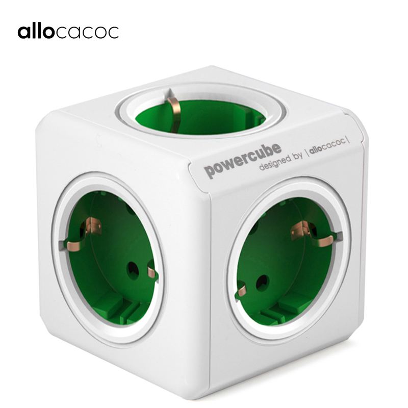 Allocacoc PowerCube Electrical Plug Power strip travel adapter EU Plug AU CN electric plug adapter Socket smart extension multi