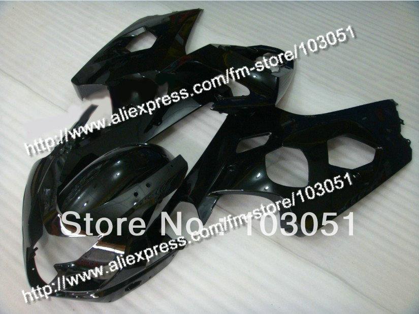bodywork for SUZUKI 2004 GSXR 750 fairing K4 2005 GSXR 600 fairings 04 05 all glossy black DB42 bodywork fairing set e for suzuki gsxr600 750 k4 2004 2005 black painted abs new [ck114]