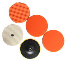 5Pcs Per Set 7 Inch (180mm) High Gross Polishing&Buffer Pad Set M14/M16 Drill Adapter For Car Polisher Buffing Self-adhesive