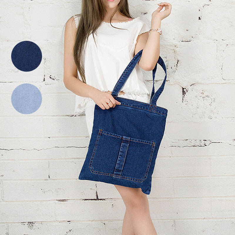 Fashion Women Messenger Bags Handbag Denim Jeans Lady Clutches Casual Shoulder Bag -OPK