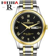 Fotina Лучший Бренд R Смотреть Моды для Мужчин Полный Нержавеющей Стали Кварцевые Часы Платье Часы Повседневная Часы Мужчины Наручные Часы relogio masculino