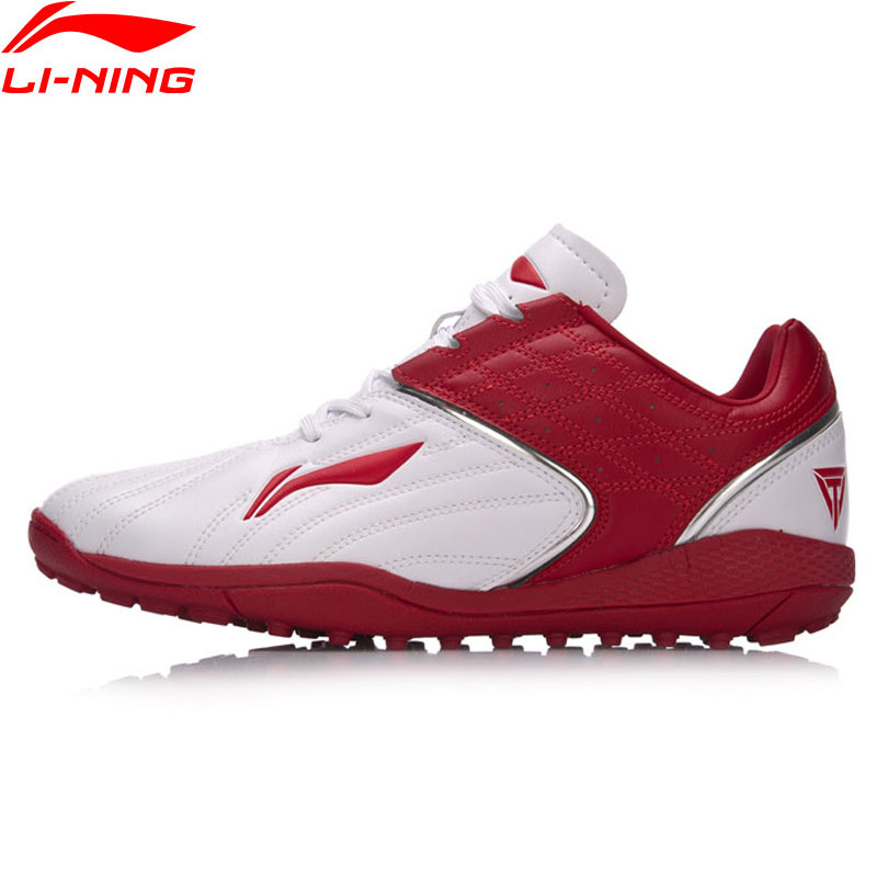 Li-Ning 2018 Men Iron Series Soccer Training Shoes Wearable Anti-Slippery Footwear Li Ning Sports Shoes Sneakers ASTM023 tiebao soccer sport shoes football training shoes slip resistant broken nail professional sports soccer shoes