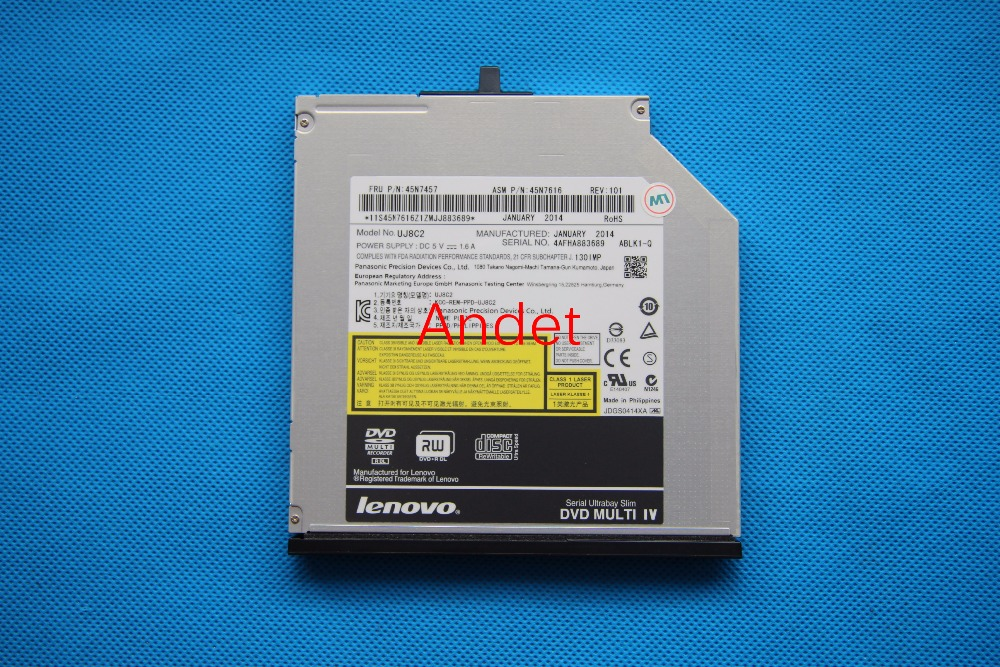 DVD Burner for Lenovo ThinkPad T400 T500 T400S T410 T410S T420S T430S T430 W500 Slim CD-RW DVD-RW Drive 45N7457 UJ8C2 20v 4 5a 90w laptop ac adapter charger for lenovo thinkpad t400 t410 t420 t430 t500 t510 t520 t530 t400s t410s t410i