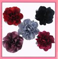 Wholesale - 5 colors for your choose 51/2'' Satin mesh silk flowers without hair clip  FreeShipping