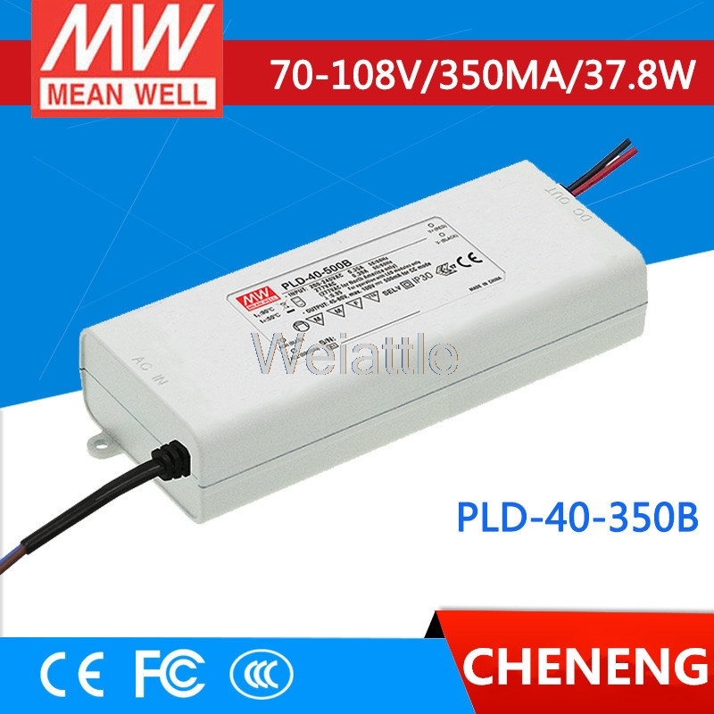 MEAN WELL original PLD-40-350B 108V 350mA meanwell PLD-40 108V 37.8W Single Output LED Switching Power Supply pld 1201 pld 1202 pld 1203 pld 1204 pld 1205 pld 1206 pld 2201 pld 2202 pld 2203 dc 12v dc 24v mini water small pump
