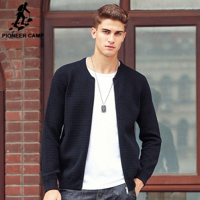 Pioneer Campo Nuovo arrivo di Spessore Maglione Uomini famoso marchio di abbigliamento  uomo Cardigan casual maschile cerniera moda maglioni 611212 c5d9d1dcc35