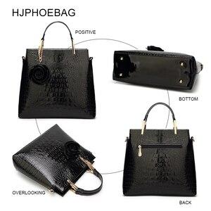 Image 4 - HJPHOEBAG Womens large capacity crocodile pattern handbag casual crocodile shoulder bag Messenger bags ladies bolso mujer YC194