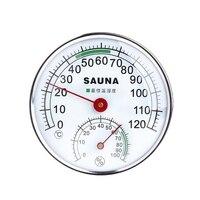 Термометр из нержавеющей стали гигрометр для сауны комнатный Измеритель температуры и влажности