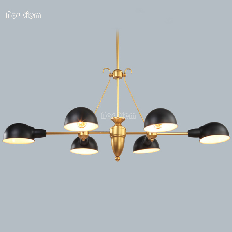 Modern gold Living room Pendant Lights Nordic LED Hanging Lamp for Dining room Iron Lampshade study lighting 6 Head pendant lamp nordic modern 10 head pendant light creative steel spider lamps unfoldable living room dining room post modern toolery led lamp page 1