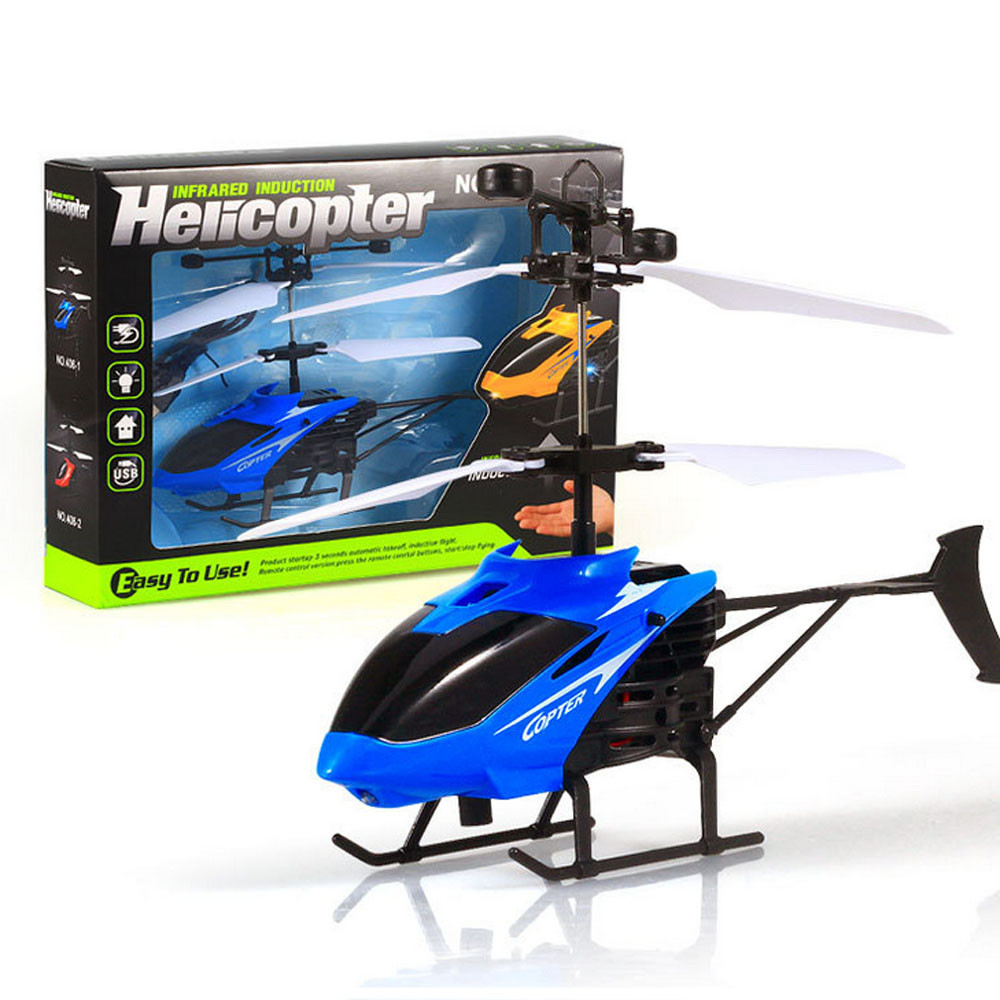 Portable Automatic Remote Control Aircraft Flying Mini RC Infraed Induction Helicopter Aircraft Flashing Light Toys For Kid