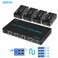 SGEYR 196ft 4 Port HDMI Extender 1x4 HDMI Signaal Extender 60 m hdmi extensor splitter 1 in 4 out Cat5/6 1080 p Ondersteuning 1080 p 3D