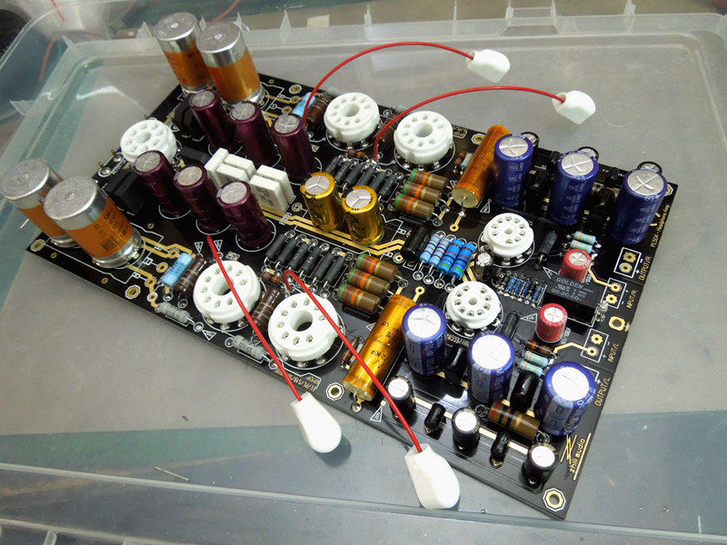HiFi Audiophile Hi End Stereo 12AU7 Vacuum Tube Amplifier Headphone Amp PCB Board DIY Kit-in Amplifier from Consumer Electronics    1