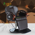 Hairdressing chair. The barber chair can be put down. Shave hair salons hairdresser haircut chair