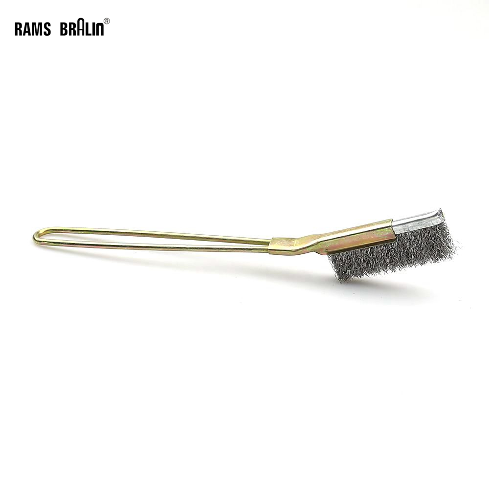 Hand Stainless Steel Wire Brush For Slot Groove Cleaning Derusting Deburring