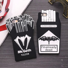 New 3D Cartoon French Fries Cigarette Soft Silicone Phone Back Case Cover Skin For Apple iPhone 5 5S 5C SE 6 6S 6 Plus 6S Plus цена