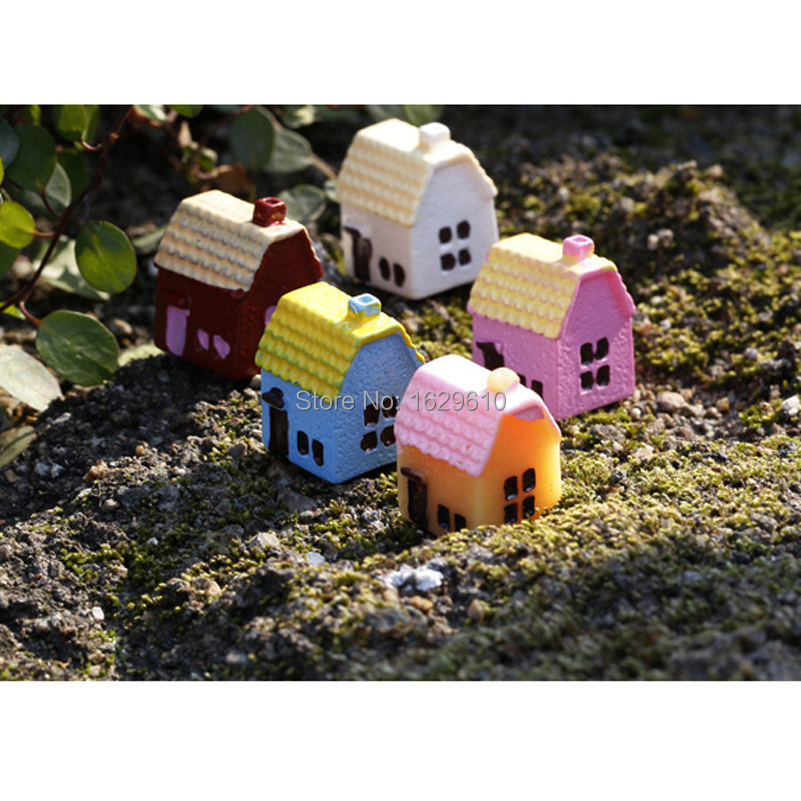 New garden resin miniature ornament ornament house for Figurine decoration jardin