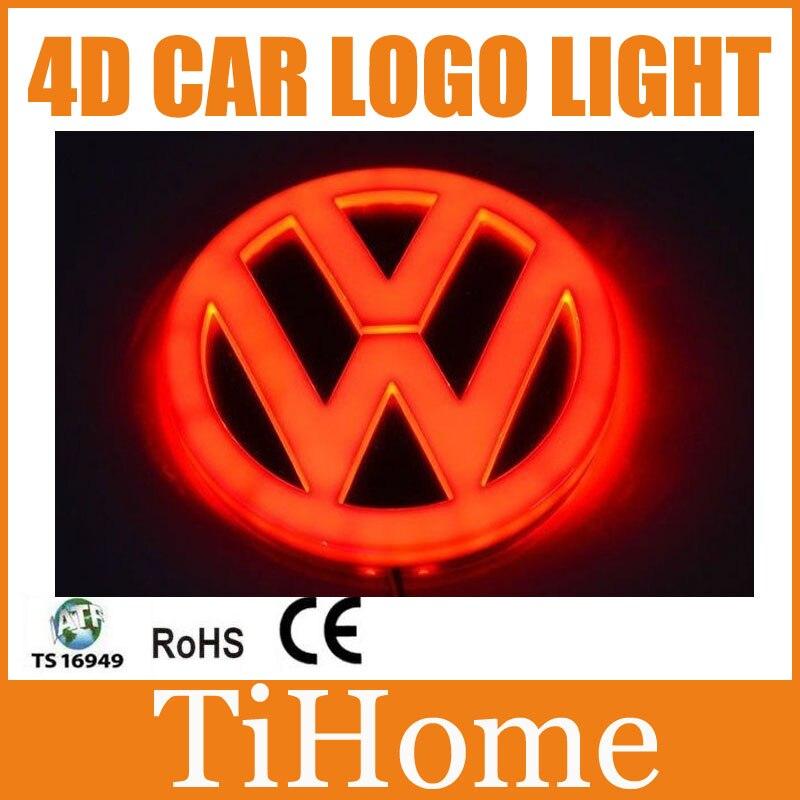 Free Shipping 4D LED Car LOGO Light/Lamp 4D LED car emblem badge light for VW Passat new arrival 3d el car logo decorative lights for opel series car badge led lamp auto emblem light free shipping