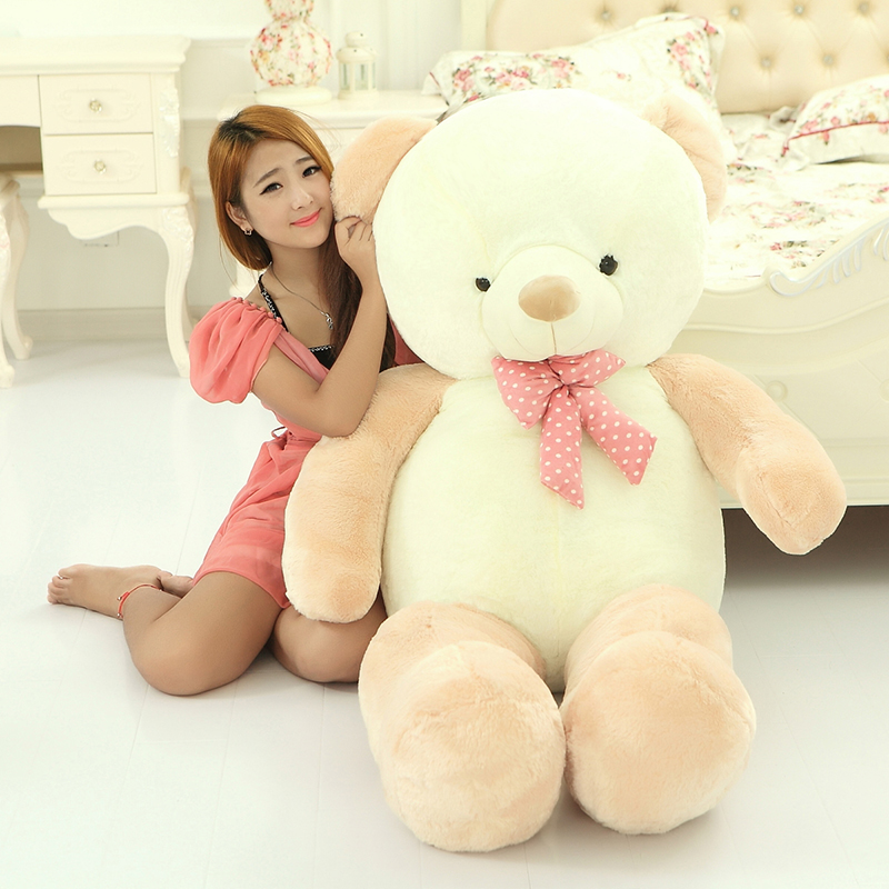 big plush round eyes light brown teddy bear toy huge bear doll gift about 160cm