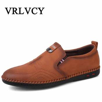 2018 Men Shoes Luxury Brand Leather Casual Driving Oxfords Shoes Men Loafers Moccasins Italian Shoes For Men Flats Casual Shoes