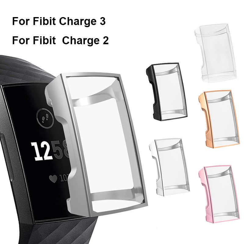 TPU Case Protective Shell Cover Screen Protector For Fitbit Charge 3