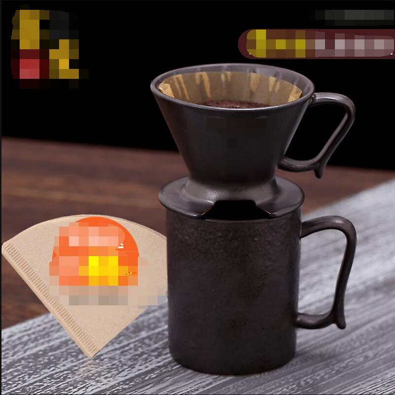 Hot Selling Newest Vintage Ceramic Coffee Pot Set, Hand Coffee Filter Cup Gift Box Drip Coffee Utensil  Kitchen Accessories