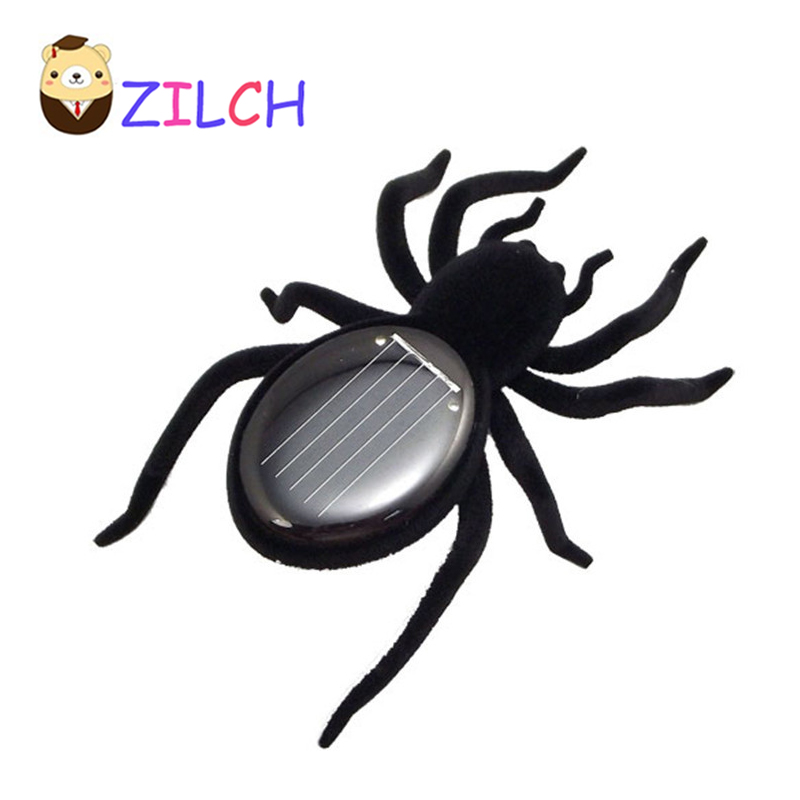 Solar Spider Tarantula Educational Robot Scary Insect Gadget Trick Toy Solar Toy juegos solares Kids Toy Robot Toy Free Shipping gadget