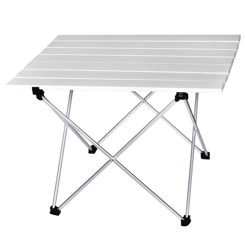 Table de Camping Portable en plein air en aluminium Table pliante barbecue Table de Camping pique-nique Tables pliantes bonbons couleur claire bureaux S L taille