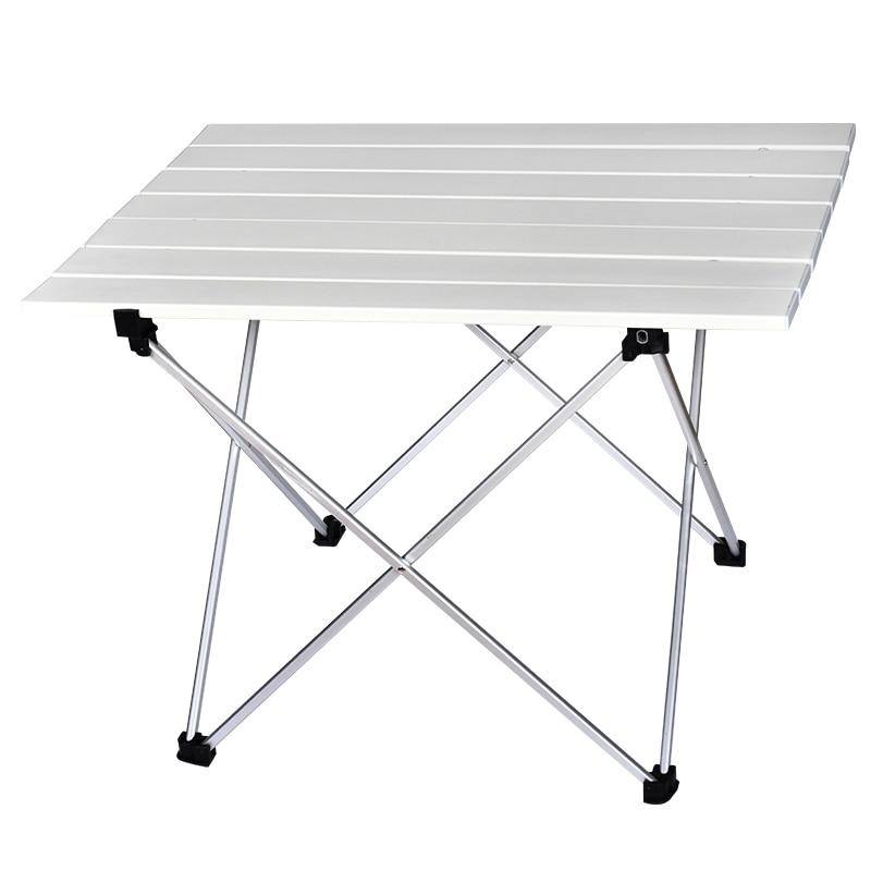 Camping Table Portable Outdoor Aluminum Folding Table BBQ Camping Table Picnic Folding Tables Candy Light Color Desks S L Size